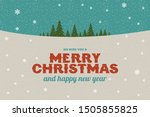 merry christmas and happy new... | Shutterstock .eps vector #1505855825
