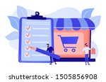 man doing purchases from... | Shutterstock .eps vector #1505856908