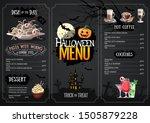 halloween menu design with jack ... | Shutterstock .eps vector #1505879228