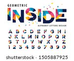 vector of geometric alphabet... | Shutterstock .eps vector #1505887925