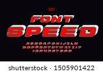 speed faster motion red set... | Shutterstock .eps vector #1505901422