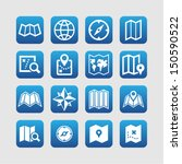 map icons for web | Shutterstock .eps vector #150590522