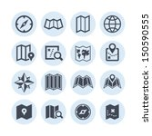 map icons   Shutterstock .eps vector #150590555