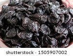 Small photo of Close-up of prune, dried prune, dried fruits. Cooking ideas.