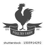 rooster poultry farm emblem.... | Shutterstock .eps vector #1505914292