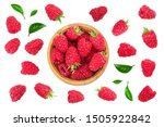 Raspberries In Wooden Bowl With ...