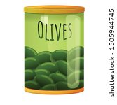 green olive tin can icon....