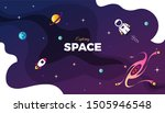 space exploration modern... | Shutterstock .eps vector #1505946548
