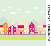 house buildings  home seamless... | Shutterstock .eps vector #150595355