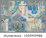 damask  ottoman   floral  tile  ... | Shutterstock .eps vector #1505959988