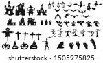 collection of halloween... | Shutterstock .eps vector #1505975825