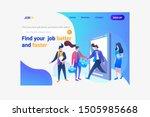 online jobs find online work... | Shutterstock . vector #1505985668