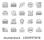 mattress line icons. breathable ... | Shutterstock .eps vector #1505997878
