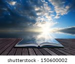 creative concept pages of book... | Shutterstock . vector #150600002