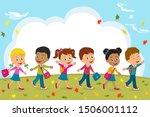 kids boys and girls go to...   Shutterstock .eps vector #1506001112
