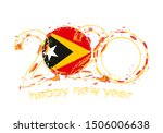 happy new 2020 year with flag... | Shutterstock .eps vector #1506006638