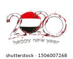 happy new 2020 year with flag... | Shutterstock .eps vector #1506007268