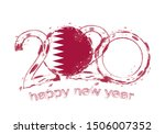 happy new 2020 year with flag... | Shutterstock .eps vector #1506007352