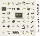 back to school icon set | Shutterstock .eps vector #150602282