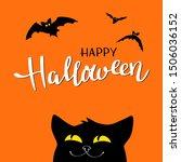 halloween night background with ... | Shutterstock .eps vector #1506036152