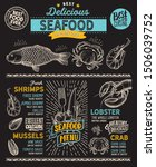seafood menu template for... | Shutterstock .eps vector #1506039752