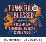 font thanksgiving day.... | Shutterstock .eps vector #1506039758