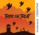 trick and treat text... | Shutterstock .eps vector #1506047045