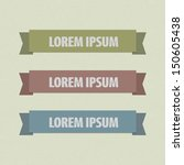 set retro labels or ribbons... | Shutterstock .eps vector #150605438