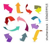 colorful ribbon arrow set....   Shutterstock .eps vector #1506059915