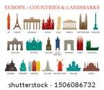 europe countries landmarks... | Shutterstock .eps vector #1506086732
