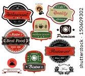 set of vintage restaurant ... | Shutterstock . vector #150609302