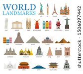 world countries landmarks set ... | Shutterstock .eps vector #1506097442