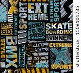 abstract seamless grunge... | Shutterstock .eps vector #1506101735