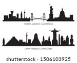 north  south and latin america... | Shutterstock .eps vector #1506103925