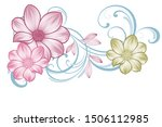 floral pattern with flowers... | Shutterstock .eps vector #1506112985