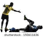 two men soccer player playing... | Shutterstock . vector #150611636
