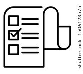 long checkbox list icon....
