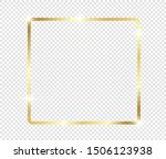 gold shiny glowing frame with... | Shutterstock .eps vector #1506123938