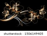 vintage luxury seamless floral... | Shutterstock .eps vector #1506149405