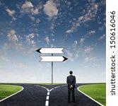 back view of businessman... | Shutterstock . vector #150616046