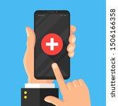 emergency phone call  ambulance ... | Shutterstock .eps vector #1506166358