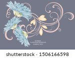 floral abstract background... | Shutterstock .eps vector #1506166598