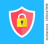 security  protection. shield... | Shutterstock .eps vector #1506167858