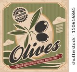 retro olive poster design... | Shutterstock .eps vector #150616865