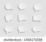 white blank speech bubbles... | Shutterstock .eps vector #1506171038