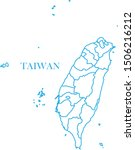 taiwan map line blue color | Shutterstock .eps vector #1506216212