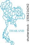 thailand map line blue color | Shutterstock .eps vector #1506216242