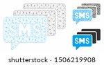 mesh sms messages model with... | Shutterstock .eps vector #1506219908