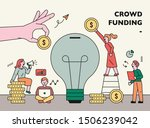 people putting money in idea... | Shutterstock .eps vector #1506239042