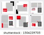 minimal layout design... | Shutterstock .eps vector #1506239705